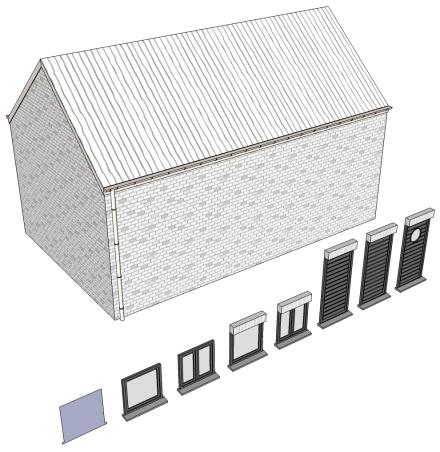 Maison 3d adaptable modulable param trable mod le de for Modele maison sketchup