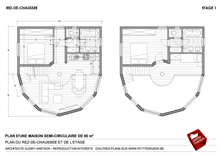 Bevorzugt Petite Maison - Plans gratuits pour une maison semi-ronde, semi  VP16