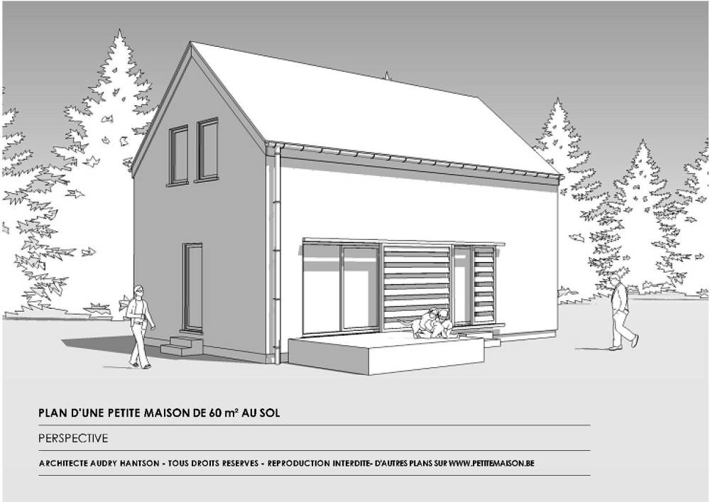 Little House   Free houses plans to  Free plan of a country cottage for holidays of sq m on the ground