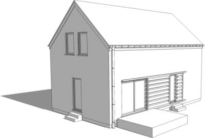 Blocks cad symboles mod les sketchup gratuits for Sketchup plan maison